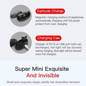 Image 4 - TWS の充電マイクと Bluetooth イヤホン 5.0 ボックス真のワイヤレスミニステレオ音楽ハンズフリーコードレス電話