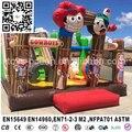 Новый дизайн надувные ковбой вышибала замок площадка для детей партии EN14960