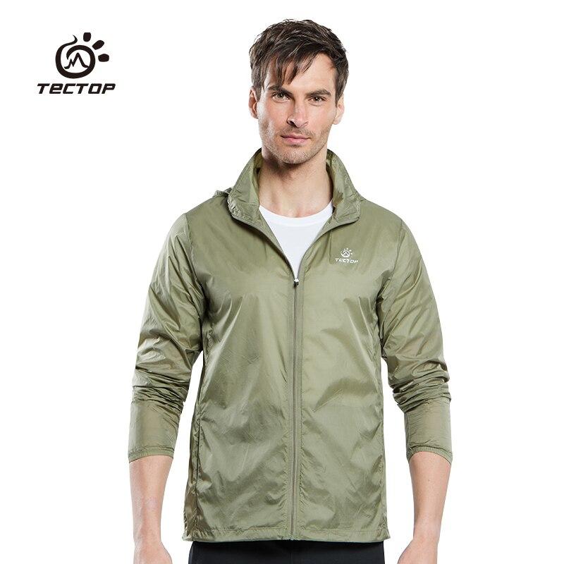 Tectop Outdoor Men Women's Fast Drying Anti-UV Waterproof Wind Protector Rain Ultralight Ultra-thin Skin Jacket Cycling Jersey
