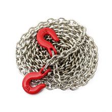 Racing 1:10 RC Car Rock Crawler Accessory 85cm Long Chain Hook Red + Silver