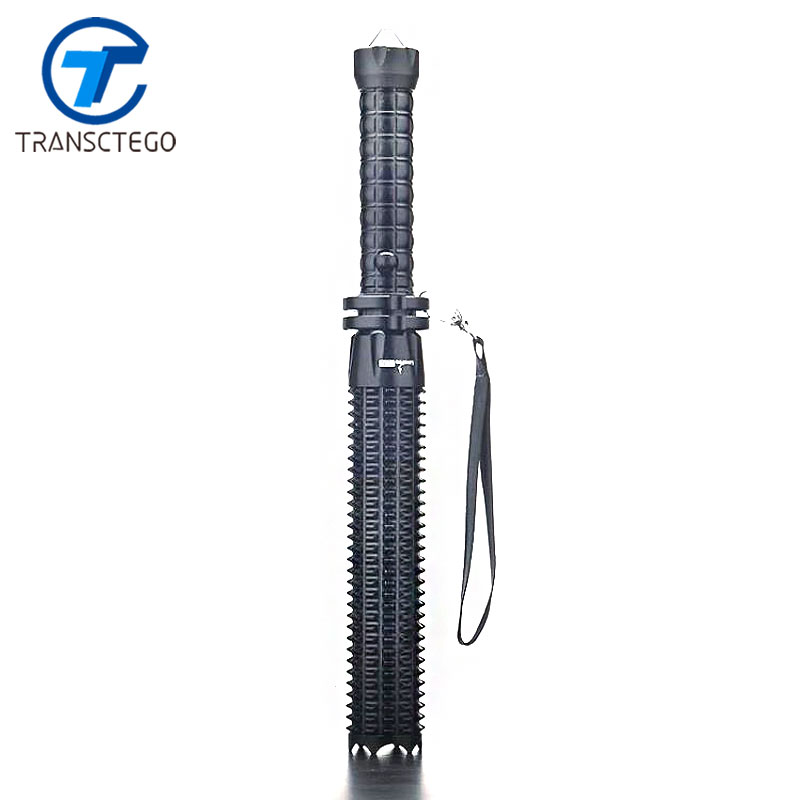 TRANSCTEGO Led Flashlight 18650 Self defense q5 glare baseball stick lengthen flashlamp for hunting rechargable camping torch outdoor camping emergency light solar powered led flashlight self defense glare flashlight hammer torch light with power bank