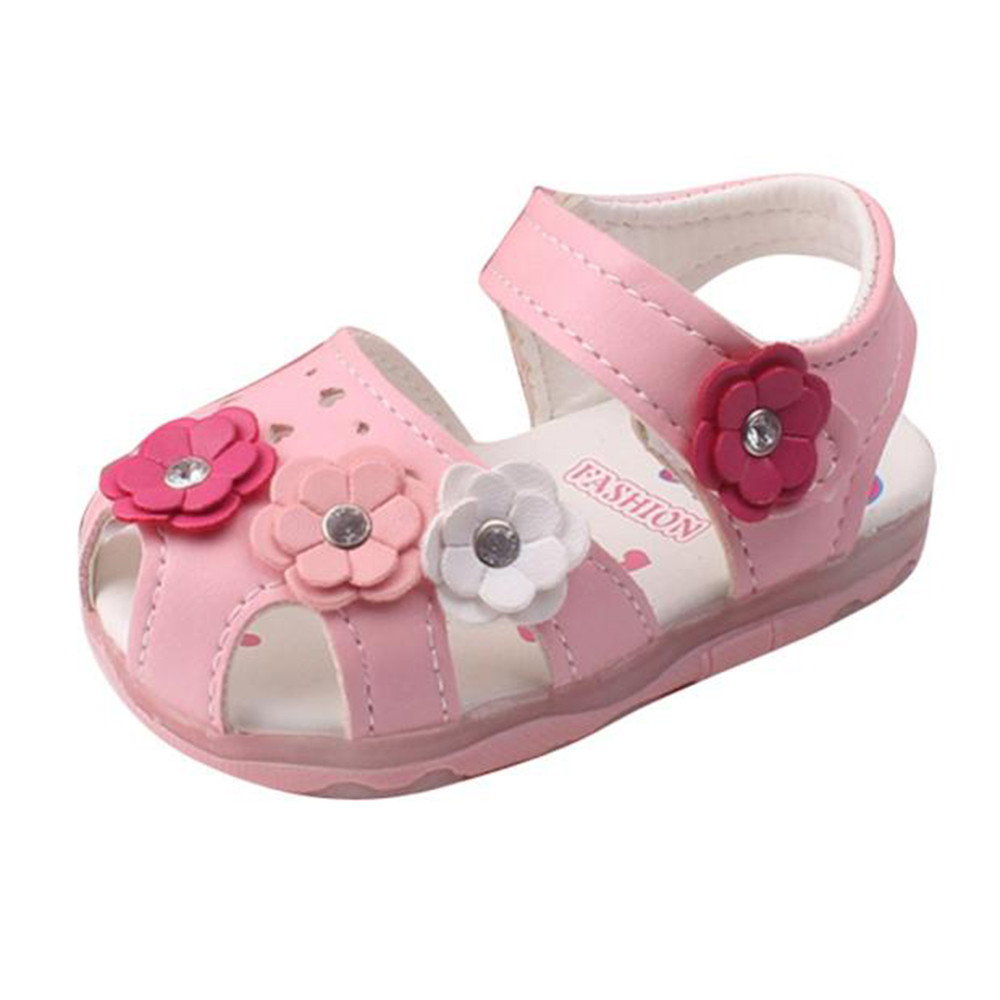 Shoes Toddler Sneakers Soft-Sole Bowknot Baby-Girl Princess New Flowers -Qj