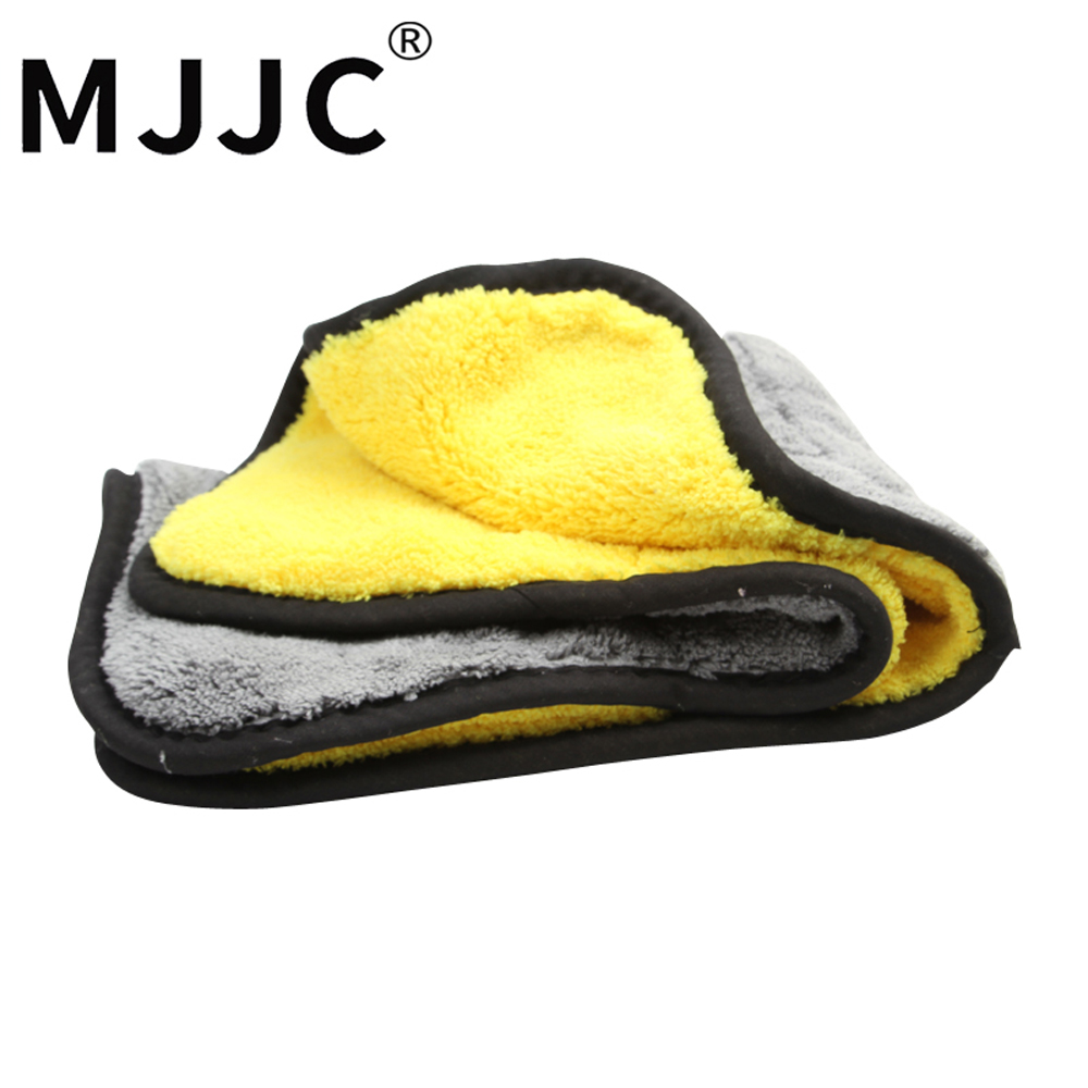 MJJC Brand High Quality 900gsm - 1000gsm Plush Drying Microfiber Towel double sides 38x45cm Car Cleaning Towel