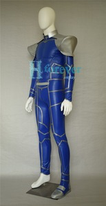 Image 5 - New Fate/Extra Stay Night Lancer Cosplay Costume Chulainn PU Leather Jumpsuit Halloween Adult Costumes for Women/Men Customized