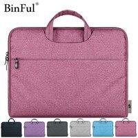 BInFul Mode 11,12, 13,15 15.6 inch Universele Laptop Ultrabook Notebook laptop Tas voor Macbook Air Pro Mouw Case Vrouwen mannen