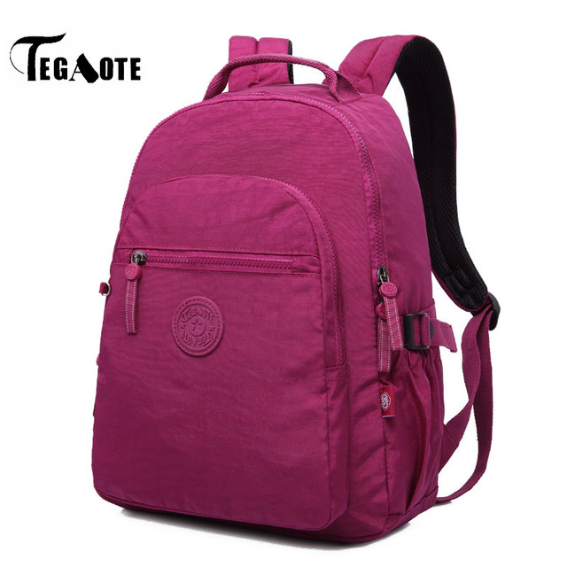 TEGAOTE Nylon Waterproof Backpack Women Capacity Shoulder Bag Teenage Girl  Casual Bagpack Laptop Bag Brand Travel 7d63e4f1a0b4b