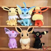 Eevee Leafeon Espeon Umbreon Vaporeon Flareon Glaceon Jolteon Sylveon Pikachu Plush Toys Soft Stuffed Animal Dolls 30cm 9 Types