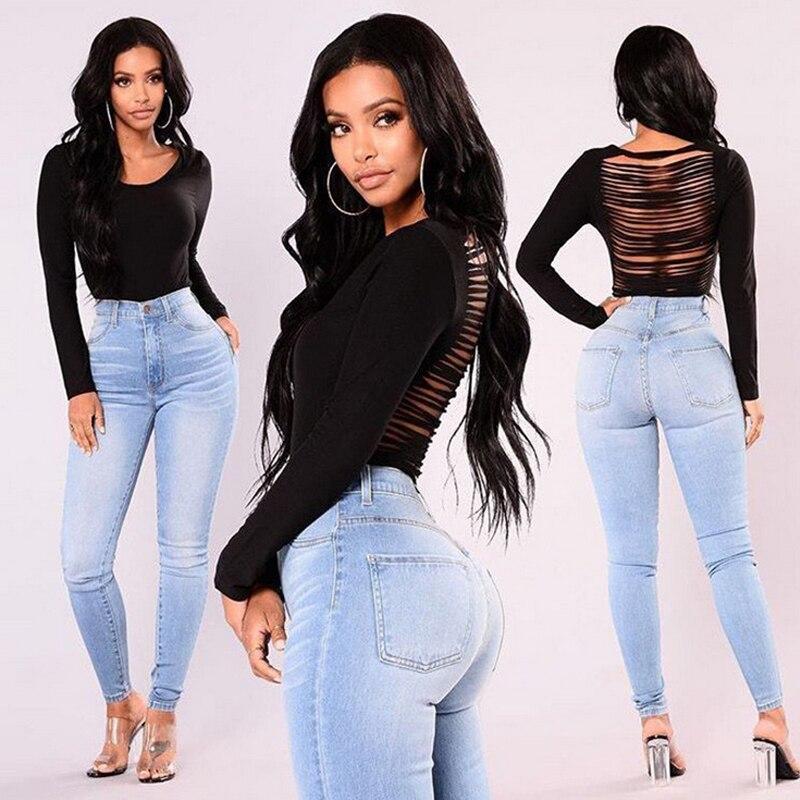 Women Lady Denim Skinny Pants High Waist Stretch Jeans Slim Pencil Jeans Women Casual Jeans 15