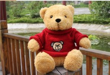 new big plush cute Teddy bear doll red cloth lovely bear doll gift about 50cm