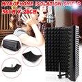Faltbare Mikrofon Akustische Isolation Schild Einstellbare Legierung Akustische Schäume Panel Studio Aufnahme Mikrofon Zubehör-in Mikrofon-Zubehör aus Verbraucherelektronik bei