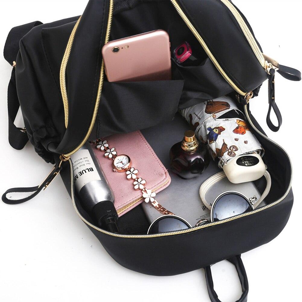 HTB1nY0ja0jvK1RjSspiq6AEqXXaV 2019 Casual Oxford Backpack Women Black Waterproof Nylon School Bags for Teenage Girls High Quality Fashion Travel Tote Backpack