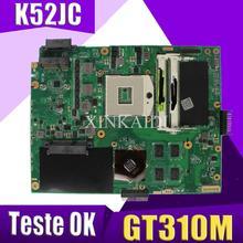 XinKaidi K52JC материнская плата для ноутбука ASUS K52JC K52JT K52JR Тесты Оригинал материнская плата GT310M Графика карты