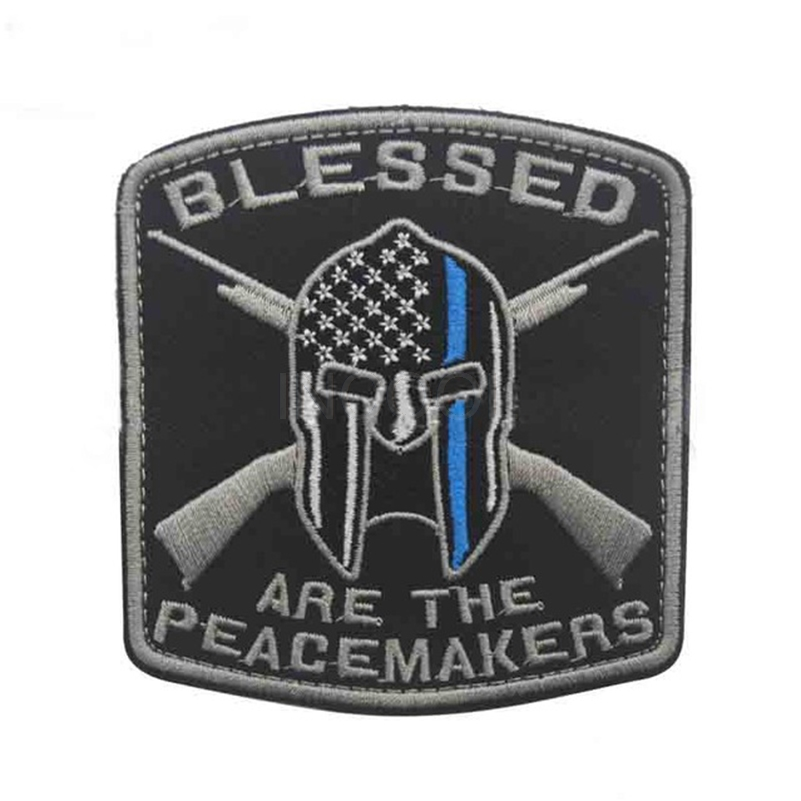 30 PCS Blessed Are the Peacemakers Embroidery Patch Military US Army Morale Patch Tactical Badges Embroidered