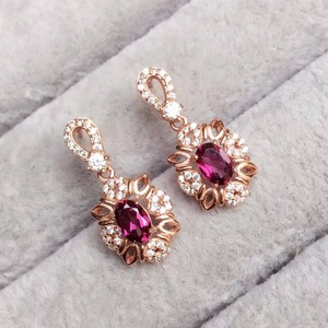 Image 2 - [MeiBaPJ Fine Quality Natural Red Garnet Gemstone Trendy Jewelry set for Women Real 925 Sterling Silver Charm Fine Jewelry