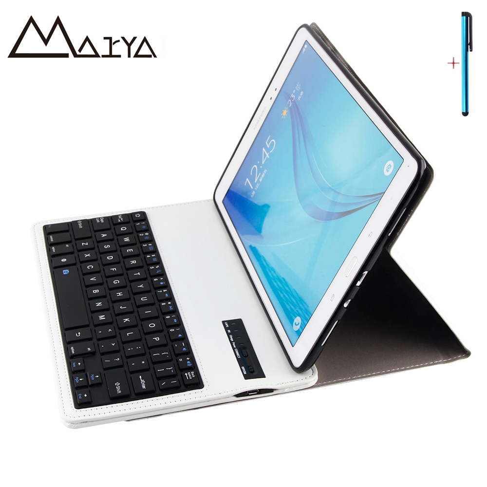 Keyboard For Samsung Galaxy Tab A 9.7 T550 T555 Tablet Case Removable Wireless Bluetooth Flip Stand PU Leather For Tab A 9.7inch universal 61 key bluetooth keyboard w pu leather case for 7 8 tablet pc black