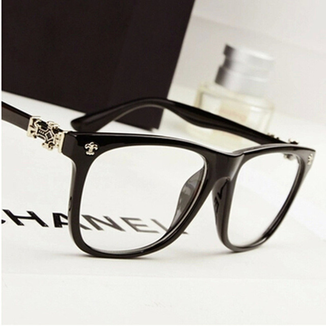 b0786e8713c Oversized Eyeglass Frames Large Unisex Decoration Glasses Famous Design  Cross Prescription Myopia Frame Big Size oculos