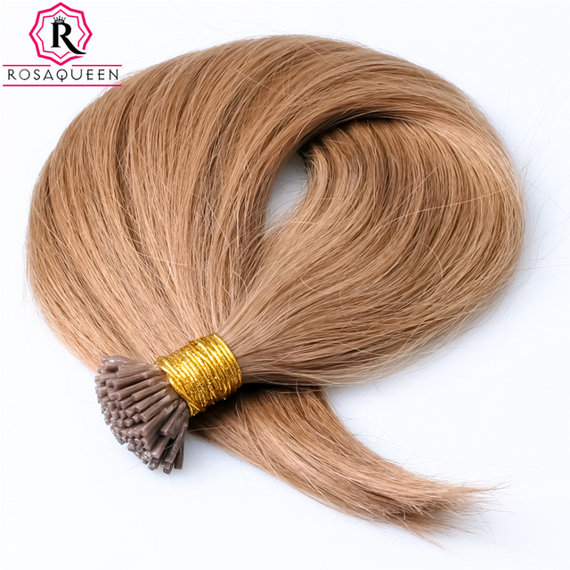 I Tip Capsule Hair Extensions 1G Strand Pre Bonded Colorful Keratin Extension Rosa Queen