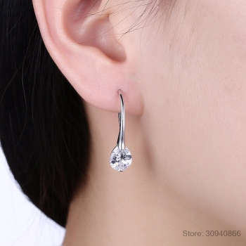 LEKANI 2019 NEW SALE Fine jewelry 925 Sterling silver Original Crystal From Swarovski Bella Mini Piercing Fashion Earrings 2