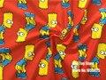 100*180 см Лос Симпсоны Мультфильм Серии ткань лоскутная Лайкра Продлить вязание хлопок ткань для Ткани Детей Постельные Принадлежности дома текстиль