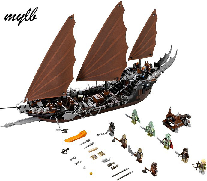 mylb Genuine The lord of rings Series The Ghost Pirate Ship Set Building Block Brick Toys lepin 16018 756pcs genuine the lord of rings series the ghost pirate ship set building block brick toys compatible legoed 79008