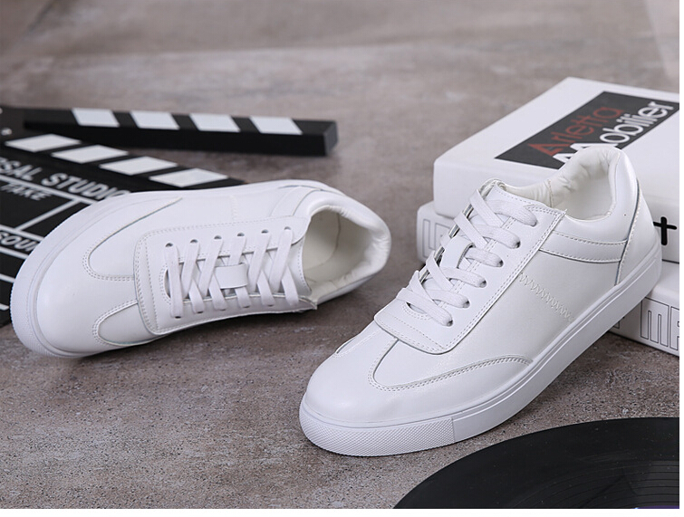 women shoes Genuine leather Lace-Up flats white shoe Soft bottom loafers Casual Shoes size 35-40 19