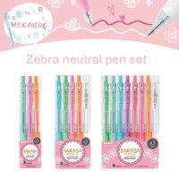 3pcs 5pcs 8pcs Zebra Mildliner JJ15 Press Pens Milk Color Light Color Line Drawing Pen Gel