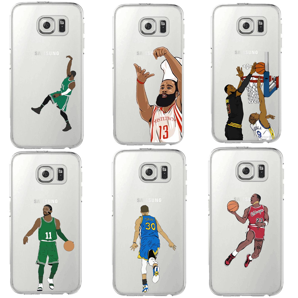 nba star basketball player silicone tpu cover for samsung galaxy s5 s6 s6 edge s7 s8 s8 plus. Black Bedroom Furniture Sets. Home Design Ideas