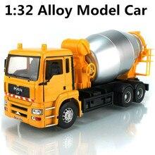 1:32 большой бетономешалка модель сплава автобетоновозов, есть подарочная упаковка детский игрушечный автомобиль, бесплатная доставка