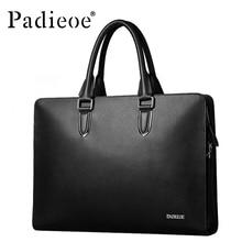 Padieoe Brand Luxury leather men's messenger bag business men's laptop briefcase fashion male shoulder handbags man bag 48ZPX