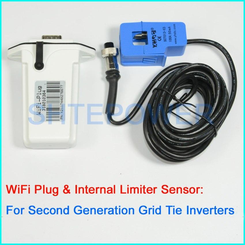 wifi Plug and inter limiter sensor for MPPT second generation grid tie inverter solar&wind system