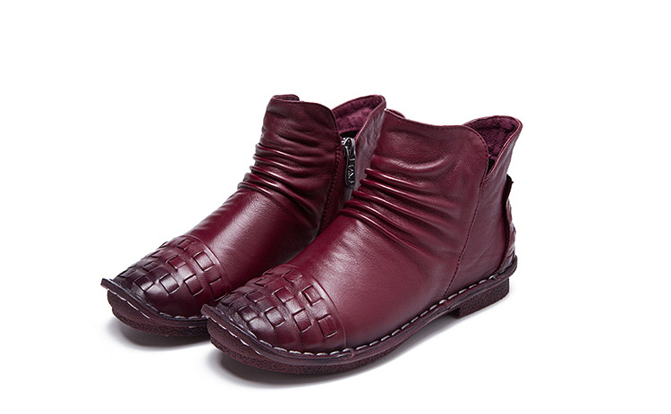 1803 Real Leather Fall 2018 New Girls Boots Casual Shoes Autumn Boots Children Flat Soft Bottom Winter Shoes