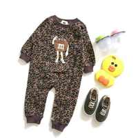 Newborn Baby Boy Clothes Infant Romper Long Sleeve Leopard Clothes Print Baby Girl Rompers Jumpsuit Pajamas