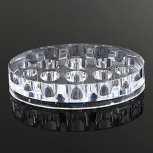 15 Holes Oval Clear Acrylic Pigment Cup Cap Rack Permanent Tattoo Ink Cup Holder Stand Tattoo Accessories Supply