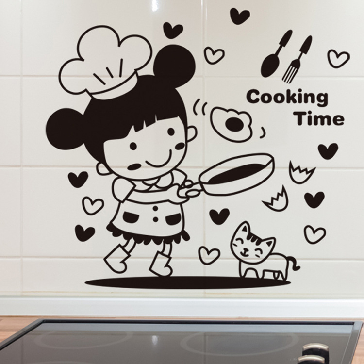 20 30cm 3d character cartoon wall sticker cooking time the binary box animaru character wall stickers wayfair uk