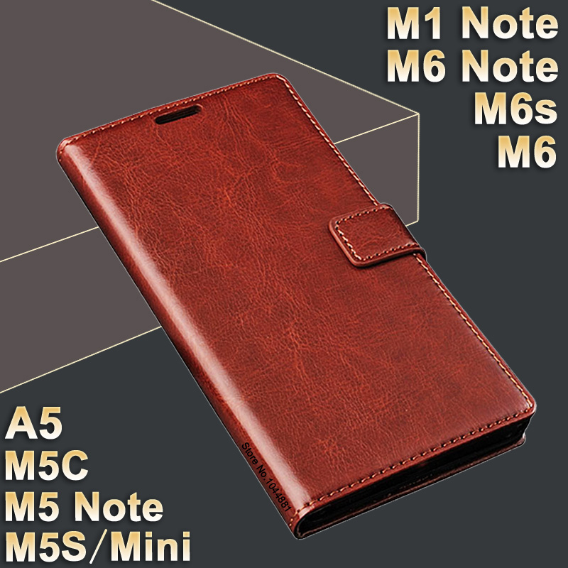 MeiZu M5 Catatan m 5 kasus kulit MeiZu M1 Catatan kasus Kualitas Tinggi kasus untuk MeiZu M6 Note / M6s / M 6 Penutup Balik PU M5S Meizu M5C kasus