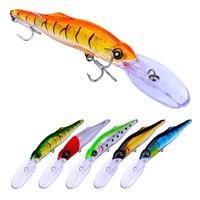 Sea Fishing Lures Trout Trolling Wobbler Minnow 16.5cm 25g 1.2 3.6m 6pcs Large Plastic For Bass Tuna Big Game Fishing Gear