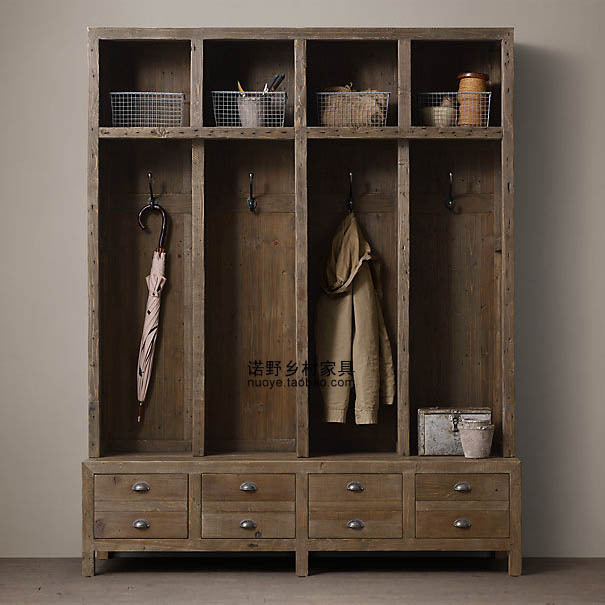 European Printmakers Walk In Wardrobe Closet Hanging Closet Clothing  Display Cabinet Country House Furniture