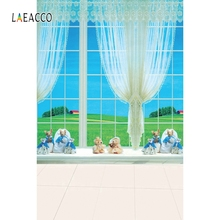 Laeacco Window Views Toy Beer Backdrop Baby Portrait Photography Backgrounds Customized Photographic Backdrops For Photo Studio