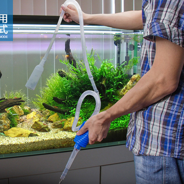 1.8m Aquarium Fish Tank Vacuum Water Change Exchange Siphon Filter Simple Practical New Free shipping