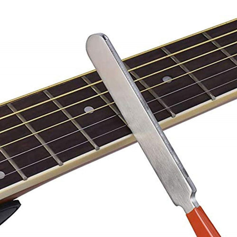 Cleaning Guitar File Set Luthier Stainless Steel Grinding Acoustic Electric Fingerboard Protectors Polish Tools Fret Rocker Moderate Price Stringed Instruments