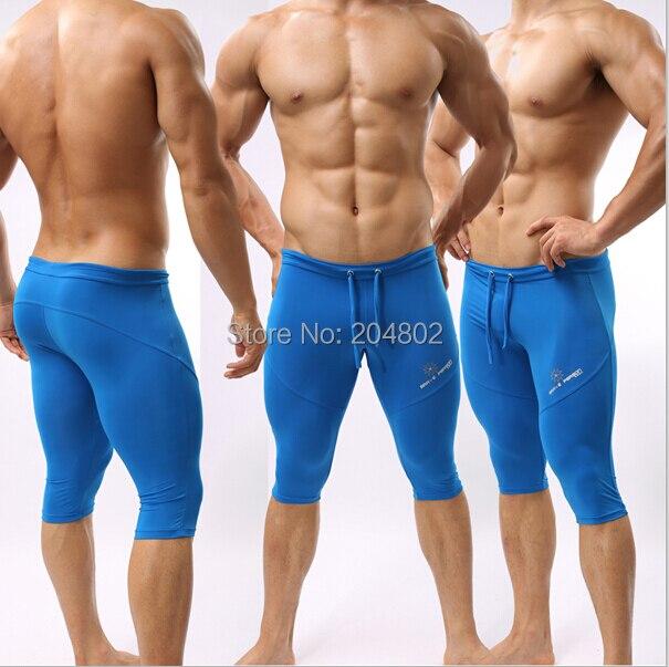 Yeni BRAVE PERSON marka Mens SportsTrunks Fitness Boksçu Qısa - Kişi geyimi - Fotoqrafiya 3
