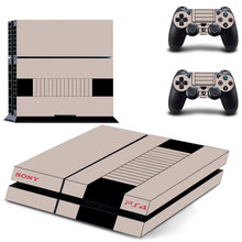 nes style decal PS4 Skin Sticker For Sony Playstation 4 Console +2Pcs Controllers