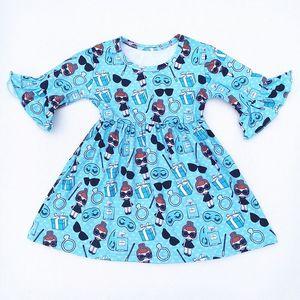 Image 4 - 4 עיצובים בנות מסיבת שמלת ילדים של בוטיק בגדי בובת הדפסי בנות שמלת תינוק שמלות Milksilk בתפזורת wholesales 2019