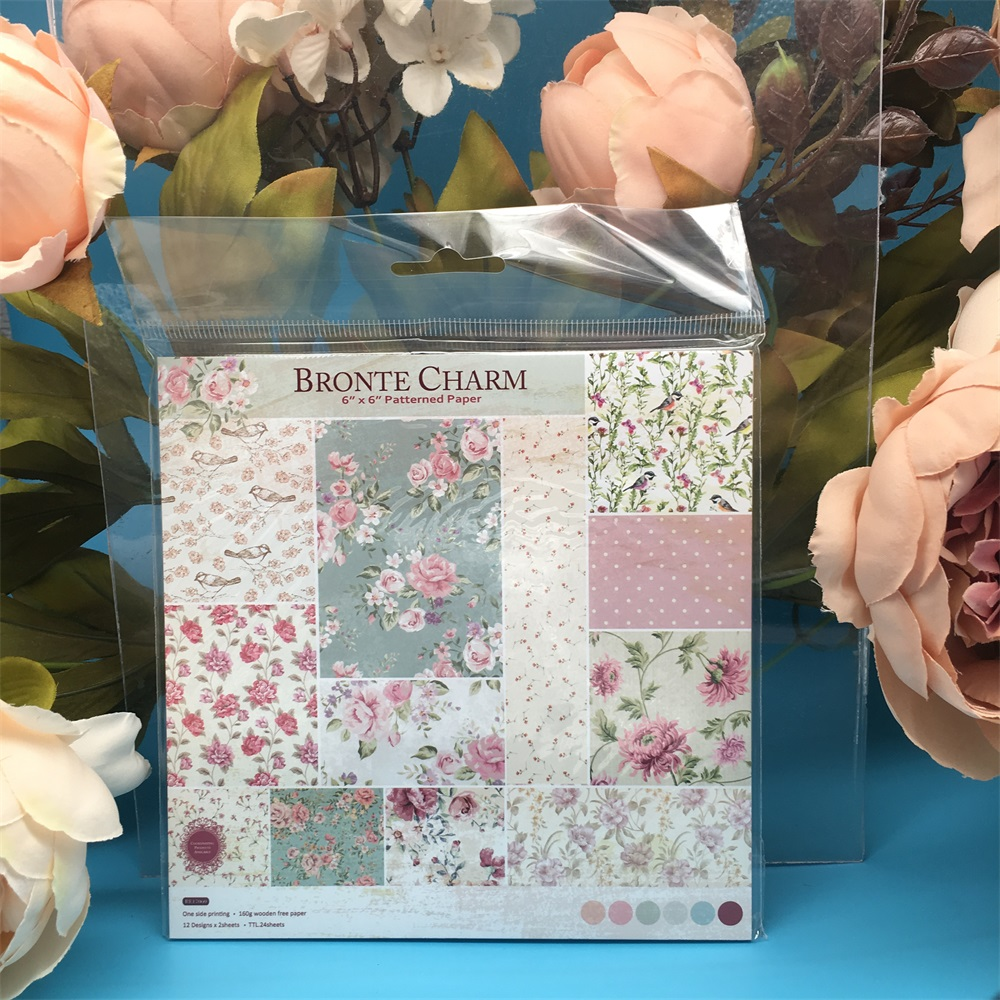 24pcs/Pack 6*6inch Bronte Charm Patterned Paper Pack Scrapbooking DIY Planner Card Making Journal Project Letter Pad