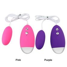 Vibrating Egg 20 Speed Powerful Remote Control Vibrator Bullet Silicone Massage Ball Clitori Stimulator Erotic Sex Toy for Women