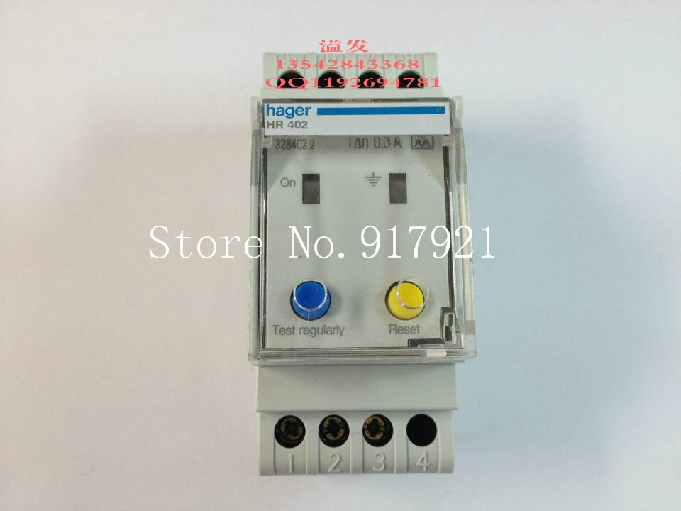 [ZOB] Hagrid HR402 earth leakage relay can replace HR502 300MA (genuine) instantaneous tripping