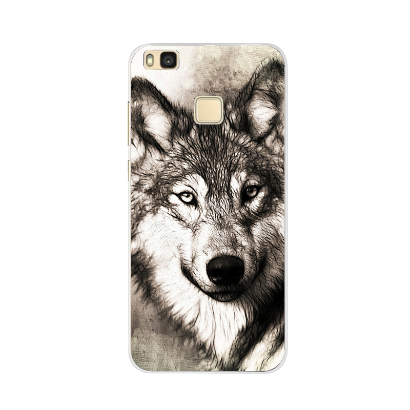 For Cover Huawei P9 Lite Case Cute Animal Black Silicon Soft TPU for Funda Huawei P9 Lite Case 2016 P 9 P9Lite Phone Back Cases in Fitted Cases from Cellphones Telecommunications