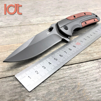 LDT DA43 Folding Knife 8Cr14Mov Blade Steel Rosewood Handle Camping Survival Knives Pocket Outdoor Hunting Knife EDC Tool 1
