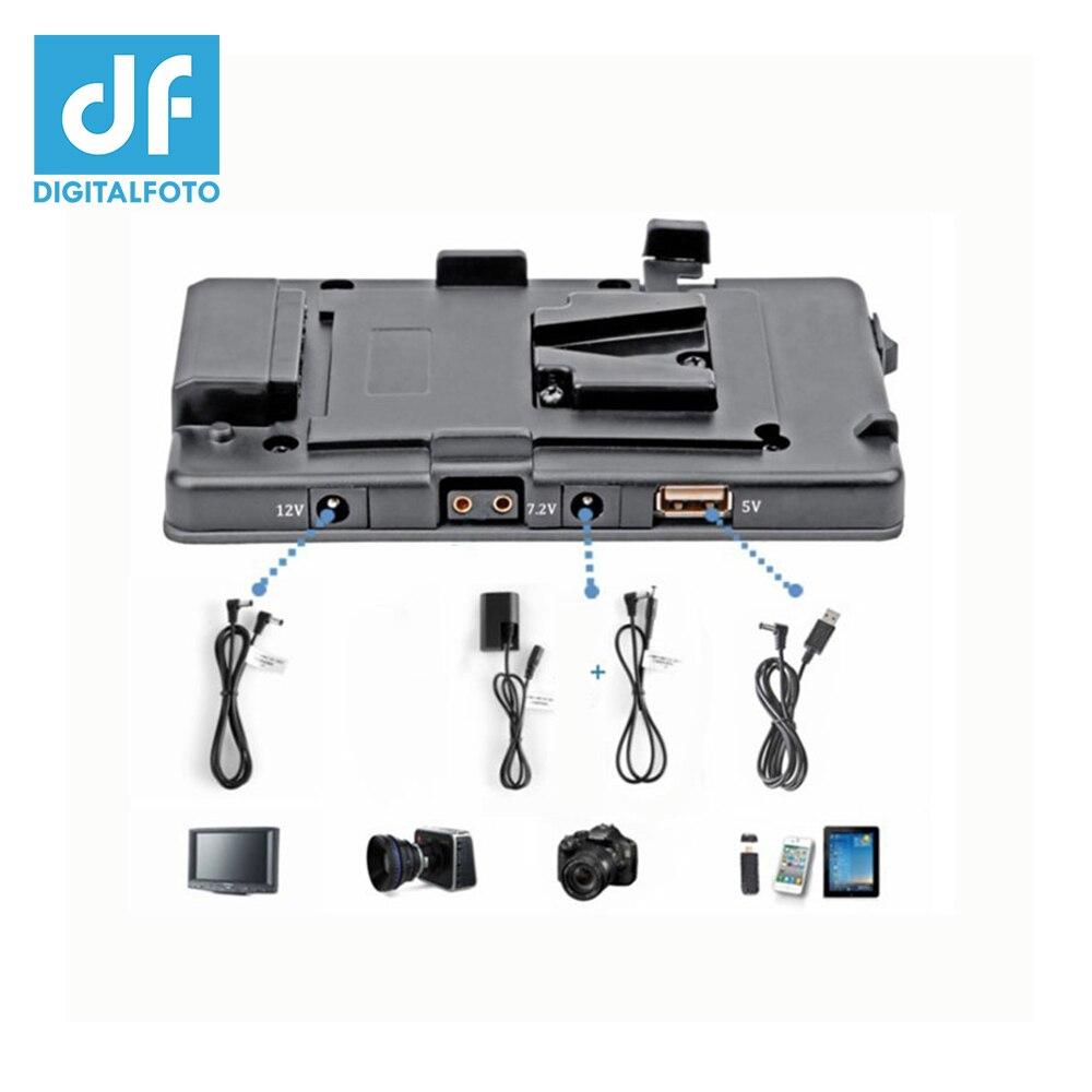 DSLR 5D2 Camera V Lock Power Supply System Muitl Output Adaptor USB  V Mount Plate For Camera DSLR Battery