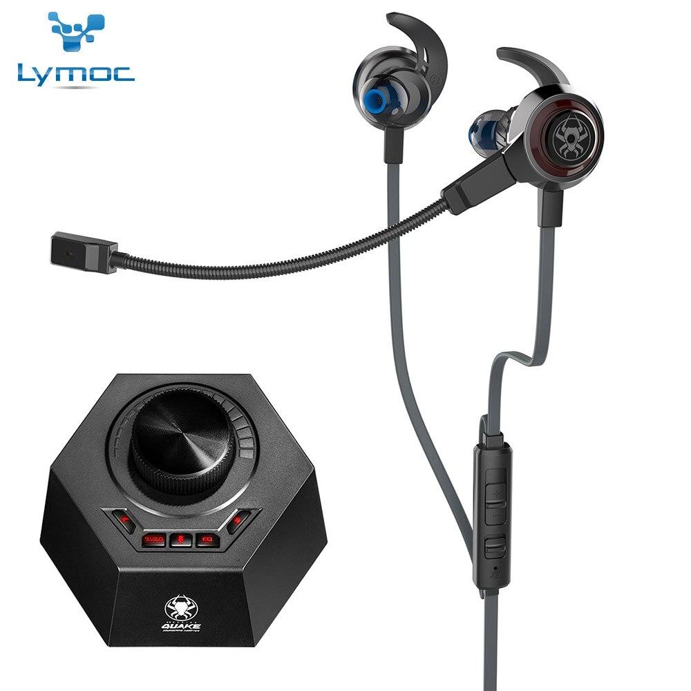 Casque de jeu LYMOC 7.1 ecouteurs de jeu de canal virtuel ehancé 24bit/96Khz 10mm moteur vibrant amovible micro jeux téléphone/Pc